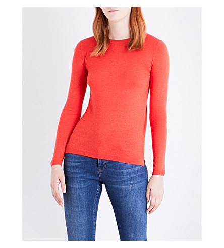 WHISTLES Annie knitted jumper (Coral