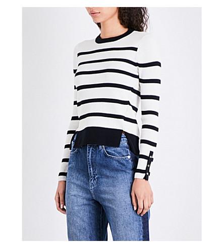 WHISTLES Breton-stripe ribbed-knit jumper (Multi-coloured