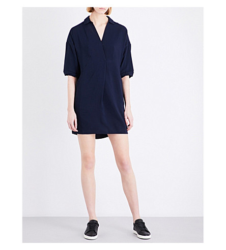 WHISTLES Lola woven dress (Navy