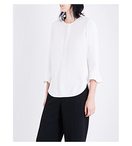WHISTLES Jennifer crepe shirt (Cream