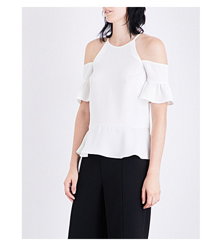 WHISTLES Adele cold-shoulder top (Cream