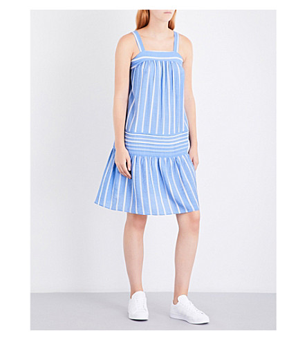 WHISTLES Simone striped woven sun dress (Multi-coloured