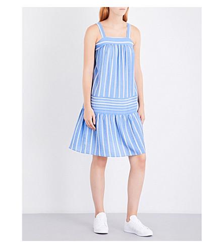 WHISTLES Simone striped woven sun dress (Multi-coloured