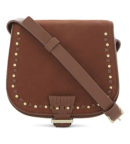 WHISTLES Martha mini leather cross-body bag (Tan