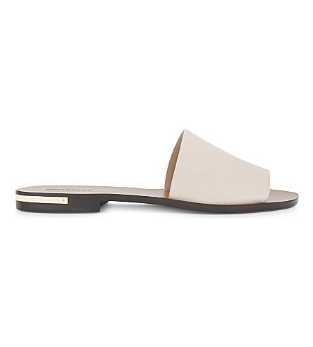 WHISTLES 金属细节皮革滑块凉鞋 (粉红色