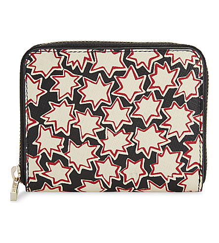 WHISTLES Abstract star leather wallet (Multi-coloured