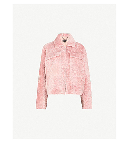 WHISTLES Shearling jacket (Pink