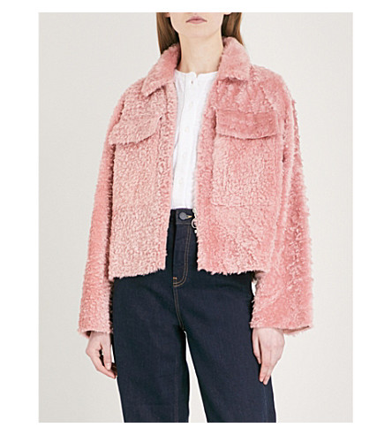 WHISTLES Shearling jacket (Pink