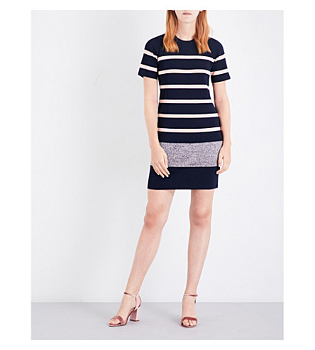 WHISTLES Striped knitted dress (Multi-coloured