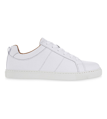 WHISTLES Koki leather low-top trainers (White