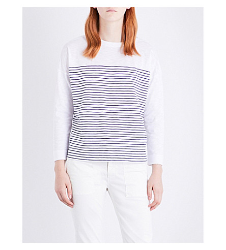 WHISTLES Breton cotton top (Multi-coloured