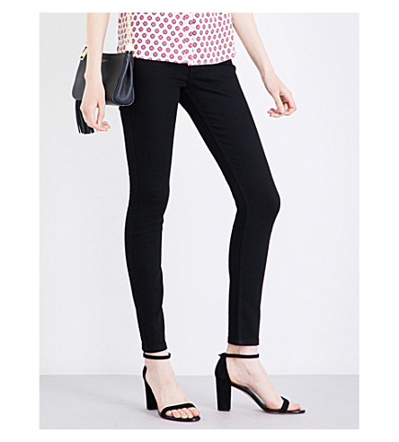 WHISTLES Skinny mid-rise jeans (Black