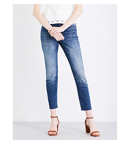 WHISTLES Perfect slim-fit high-rise jeans (Blue