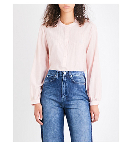 WHISTLES Heather swing voile blouse (Pale+pink