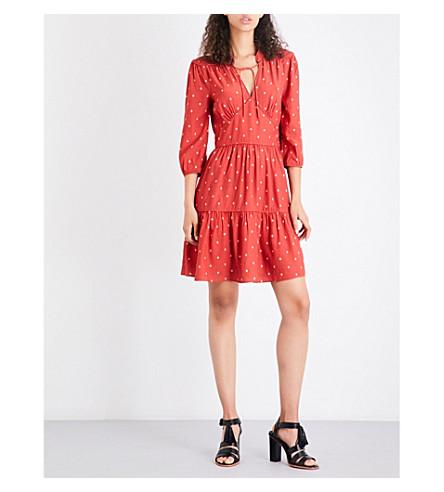 WHISTLES Maggie Fleur de Lis woven dress (None/clear