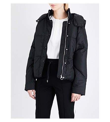 WHISTLES Iva shell puffer jacket (Black