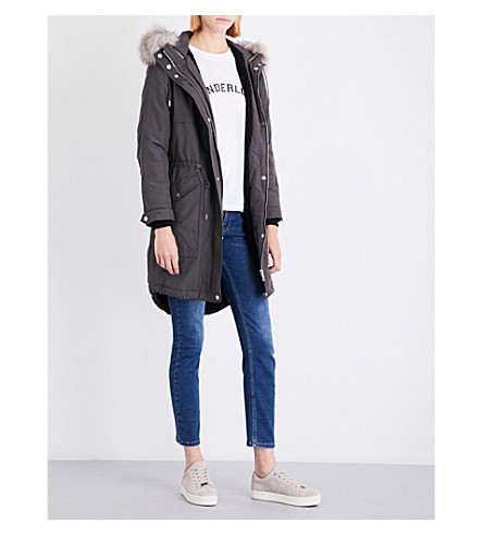WHISTLES Cassie shell parka coat (Grey