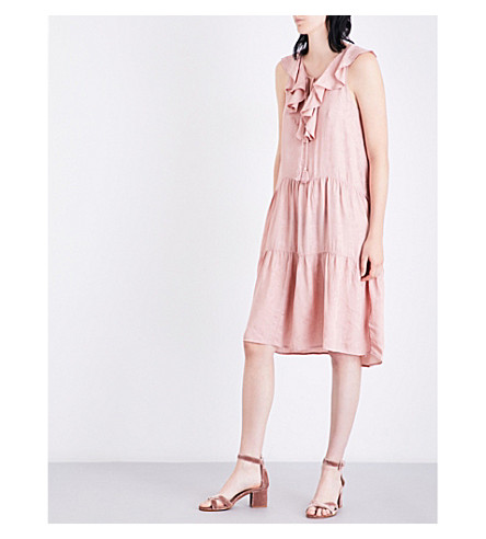 WHISTLES Stephanie jacquard dress (Pale+pink