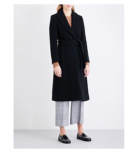 WHISTLES Alexandra belted coat (Black