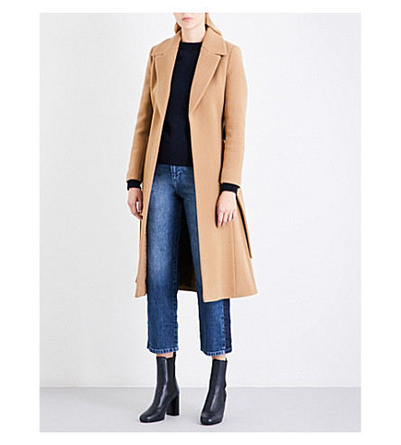 WHISTLES Alexandra belted coat (Tan