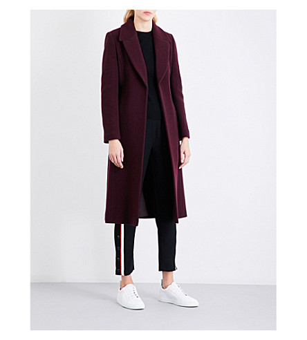 WHISTLES Alexandra belted coat (Plum/claret
