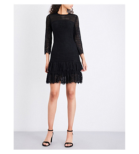 WHISTLES Marylou lace dress (Black