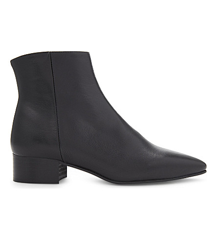 WHISTLES Berwick leather ankle boots (Black