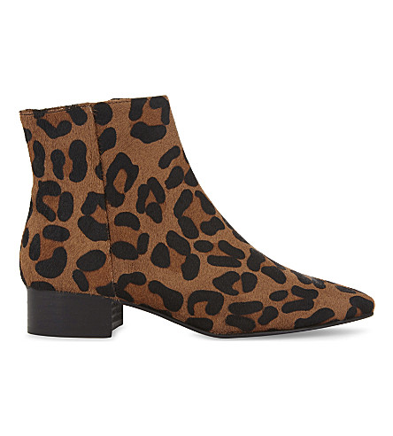 WHISTLES Berwick leopard-print ankle boots (Multi-coloured