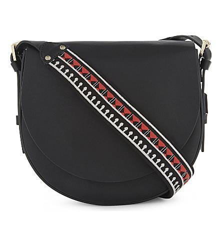 WHISTLES Limited guitar strap saddle bag (Black