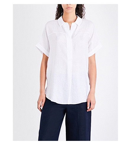 WHISTLES Ellen crepe shirt (White