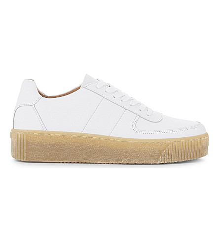 WHISTLES Abbey leather trainers (White