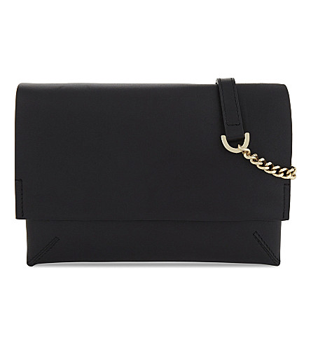 WHISTLES Hanley double cross-body bag (Black