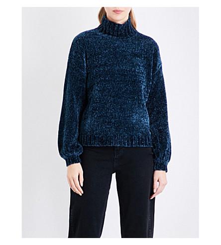 WHISTLES Chenille funnel neck knit jumper (Green