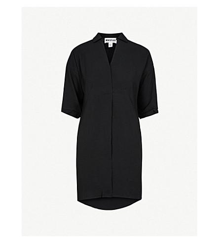 WHISTLES Lola loose-fit crepe dress (Black