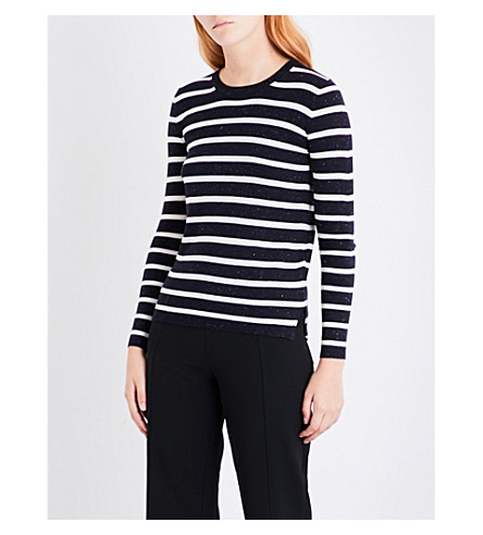 WHISTLES Stripe Annie Sparkle knitted jumper (Multi-coloured