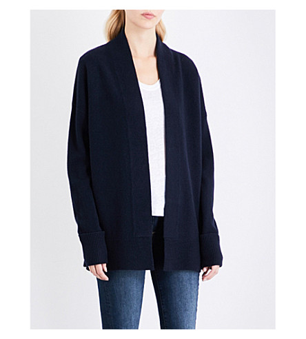 WHISTLES Rib hem cardigan (Navy