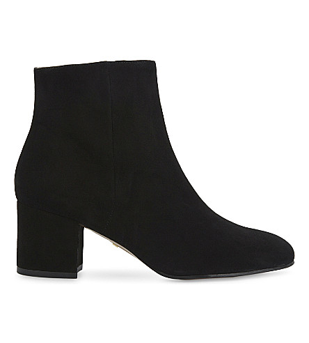 WHISTLES Logan suede ankle boots (Black