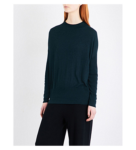 WHISTLES Relaxed Grown On knitted jumper (Dark+green