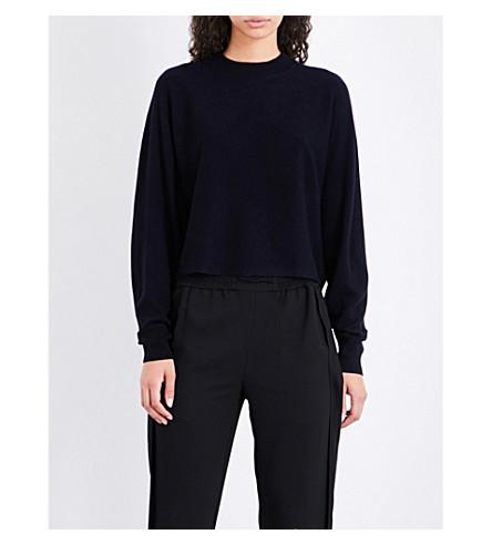 WHISTLES Dolman-sleeve knitted jumper (Navy