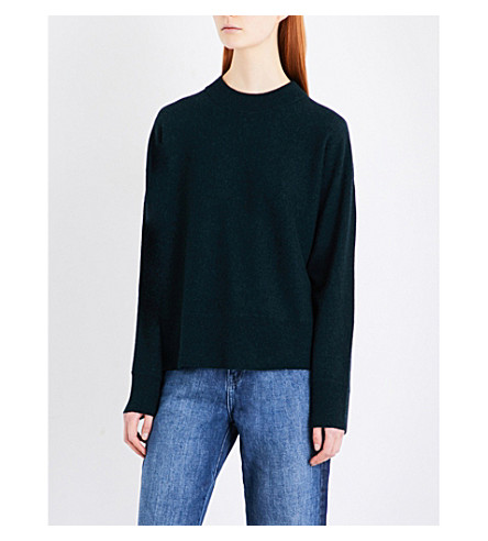 WHISTLES Dolman cashmere jumper (Dark+green