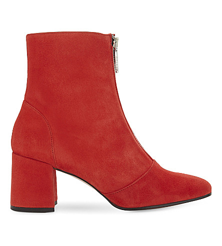 WHISTLES Rowan suede ankle boots (Red