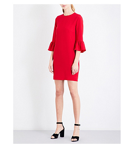 WHISTLES Raven fluted sleeve dress