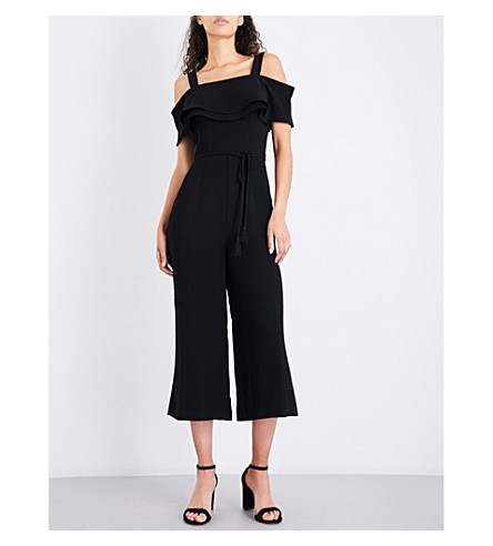 WHISTLES Emmalie crepe jumpsuit (Black
