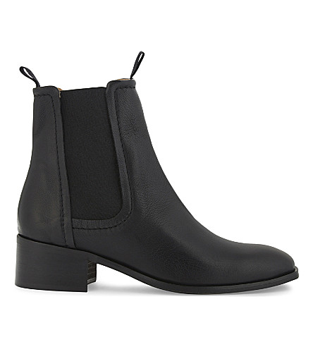 WHISTLES Fernbrook leather Chelsea boot (Black