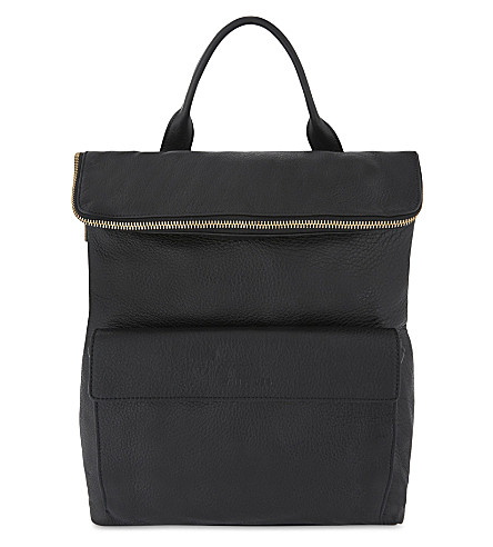 WHISTLES Verity faux-leather backpack (Black
