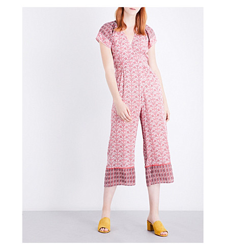 WHISTLES Alisha woven jumpsuit (Multi-coloured