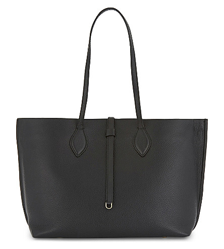 WHISTLES Regent leather tote (Black