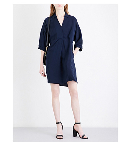 WHISTLES Lola loose-fit woven dress (Navy