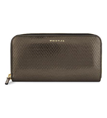 WHISTLES 纹理皮革钱包 (几乎 + 黑色