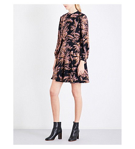 WHISTLES Camille wren print dress (Black